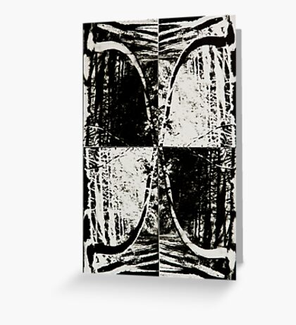 Abstract Mirror Reflection Greeting Card