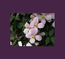 Prelude to Summer - Pink Clematis Blossoms in Profile Womens Fitted T-Shirt