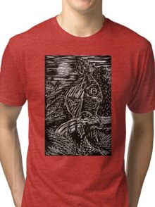 Owl within Tiger Tri-blend T-Shirt