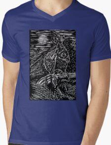 Owl within Tiger Mens V-Neck T-Shirt
