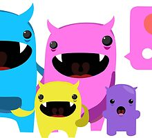 cute moster family by akosiryan