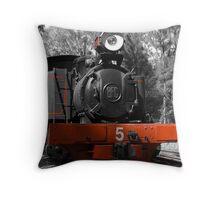 Steam Loco Throw Pillow