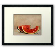 Three bites of summer Framed Print