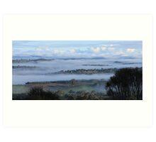 Foggy Morning on Mt Barker Summit #2 Art Print