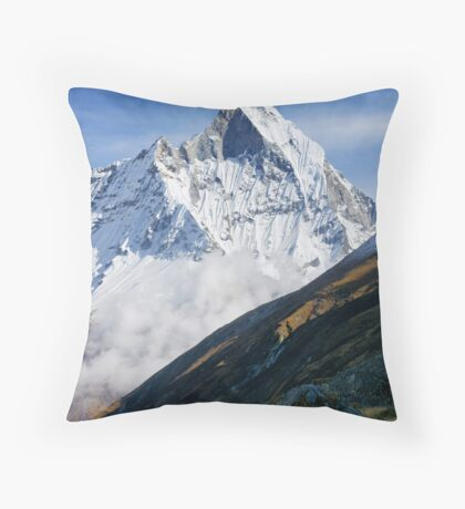 Majestic Machapuchhare  Throw Pillow