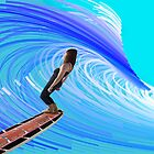 Emily Surfing by Casey Herman