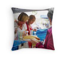 Hot Dog Stall - Mornington Street Market Throw Pillow