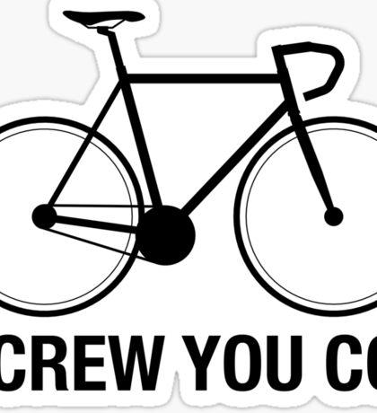 SCREW YOU CO2 | Black Ink Sticker