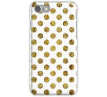 Chic Gold Glam Dots iPhone Case/Skin
