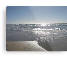Silver Beach Metal Print