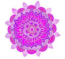 Mandala: Lavender/Pink  Photographic Print