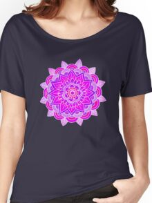 Mandala: Lavender/Pink  Women's Relaxed Fit T-Shirt