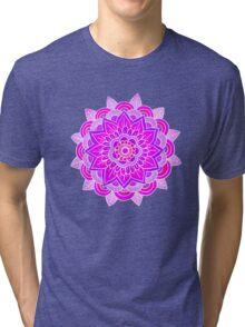 Mandala: Lavender/Pink  Tri-blend T-Shirt