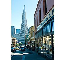 City Lights Bookstore and TransAmerica Pyramid Photographic Print