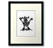 Kingdom Hearts Doodle Framed Print