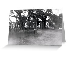 The Gates: White Hills Cemetery Greeting Card