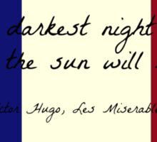 Les Miserables Quote on French Flag Sticker