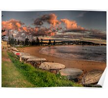 Beached - Long Reef, Sydney (25 Exposure HDR Panoramic) - The HDR Experience Poster