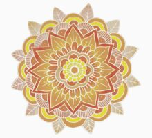 Mandala: Orange/Yellow One Piece - Long Sleeve
