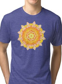 Mandala: Orange/Yellow Tri-blend T-Shirt