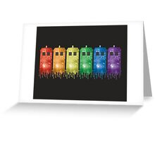 Rainbow Galaxy Tardis Greeting Card