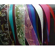 Pretty ribbons Photographic Print