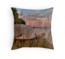 Dingy in HDR Throw Pillow