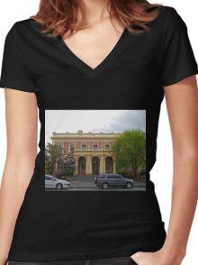 State Government Building, Launceston, Tas, Australia Women's Fitted V-Neck T-Shirt