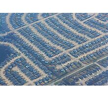 Views from Above: Abstract Suburbia Photographic Print