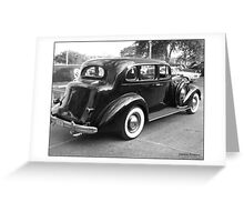 Black 4 Dr. Touring Sedan from the 30s Greeting Card