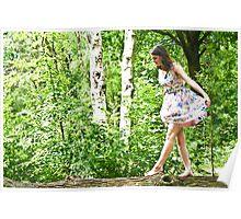 Dancing on a fallen tree  Poster