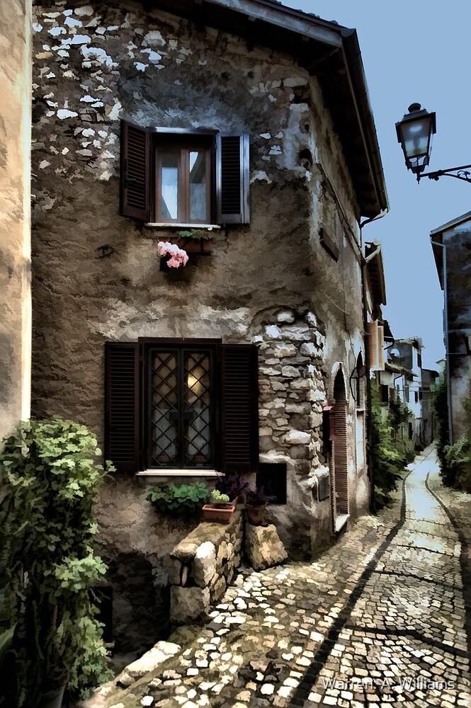 Italian Little Strret by Warren. A. Williams