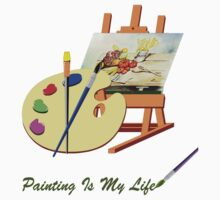 Painting Is My Life by Photography by TJ Baccari