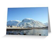 Caol,Loch Linnhe & Ben Nevis in Winter. Greeting Card