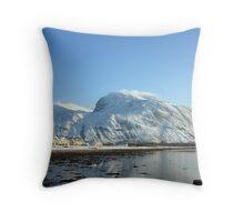 Caol,Loch Linnhe & Ben Nevis in Winter. Throw Pillow