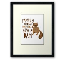 You Should Give a Dam Framed Print