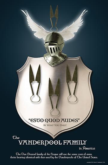 Vanderpool Coat of Arms by David J. Vanderpool