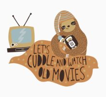 Let's Cuddle and Watch Old Movies One Piece - Short Sleeve