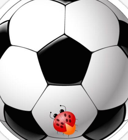 Ladybug on Telstar football ball Sticker