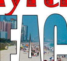 BEACH T-SHIRT Sticker