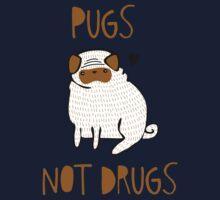 Pugs Not Drugs One Piece - Short Sleeve