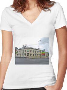 Pizza Pub, Launceston, Tasmania, Australia Women's Fitted V-Neck T-Shirt