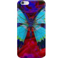 Psychedelia Illusions Take the Form of Butterflies iPhone Case/Skin