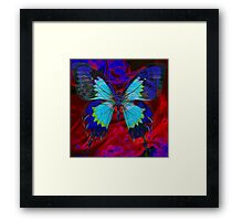 Psychedelia Illusions Take the Form of Butterflies Framed Print