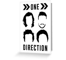 One Direction Hair Silhouette Greeting Card