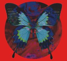 Psychedelia Illusions Take the Form of Butterflies Kids Tee