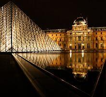 Night at the Louvre II by Virginia Kelser Jones