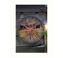 The Old Mill Water Wheel Art Print