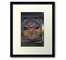 The Old Mill Water Wheel Framed Print