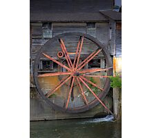 The Old Mill Water Wheel Photographic Print